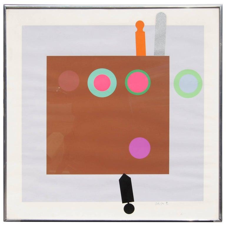 Peter Gee, Harvard Target #1, Color Serigraph