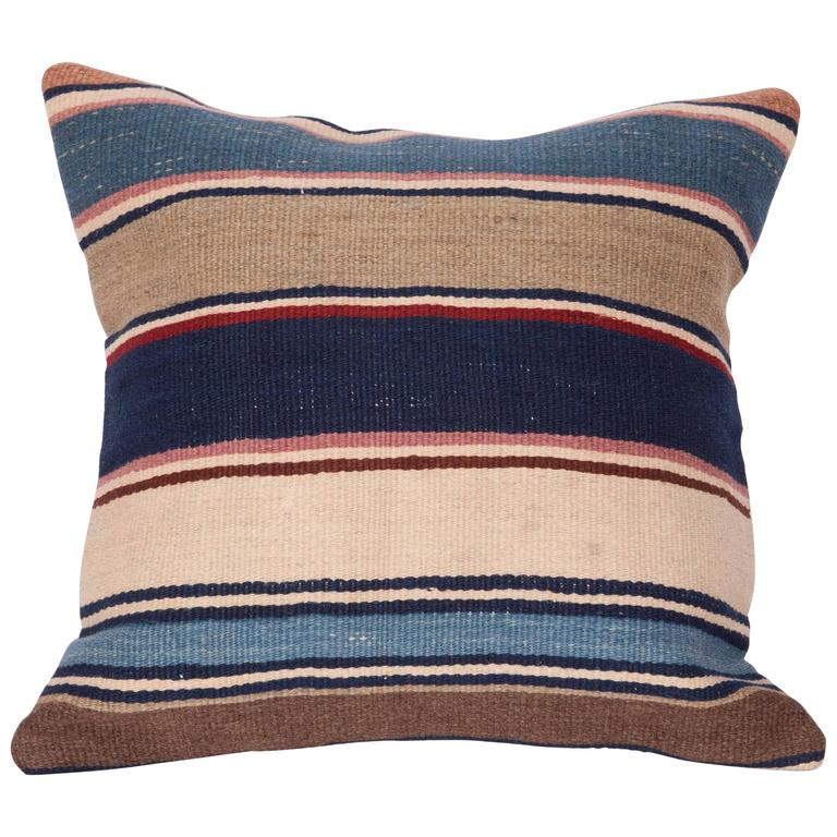 Antique Pillow Made Out of a 19th Century Shasavan Kilim