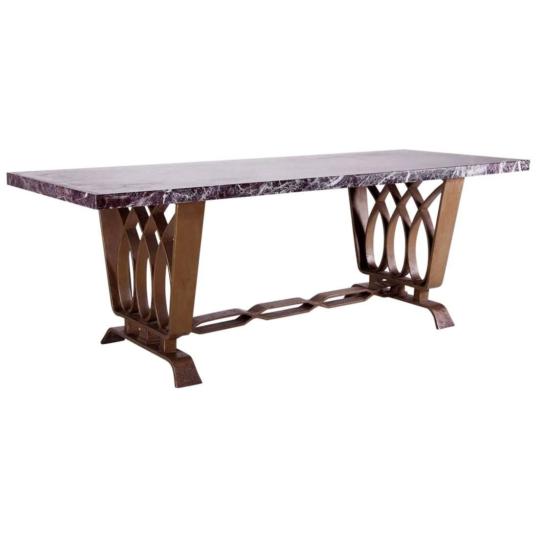 Forged Iron Dining Room Table by Pierluigi Colli for Colli Production, Italy