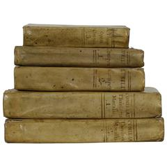 Nice Collection of 18th Century Italian Weathered Vellum Books