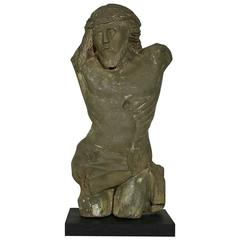 17th-18th Century German Primitive Sandstone Christ