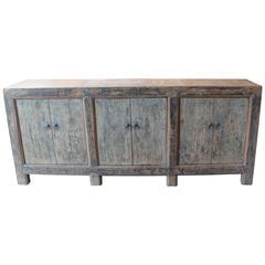 Antique Six-Door Server in Original Paint Patina