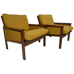 Danish Modern Rosewood Lounge Chairs