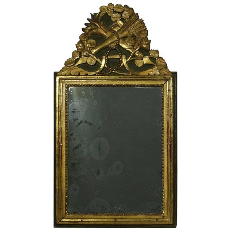 Small 18th century french louis xvi baroque giltwood for Small baroque mirror