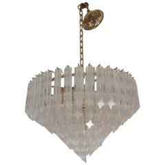 Large Seven-Tiered Venini Chandelier