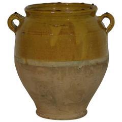 French 19th Century Ceramic Glazed Confit Jar