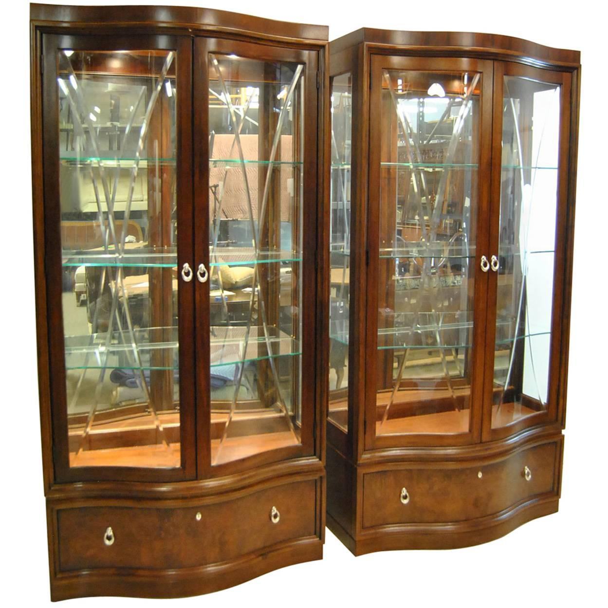 "thomasville bogart collection ""bel air"" mahogany curio china"