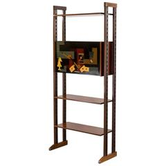 1950s Vittorio Dassi Style Wall Unit Three Shelves Cabinet