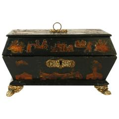 English Regency Decoupage Box, Early 19th Century