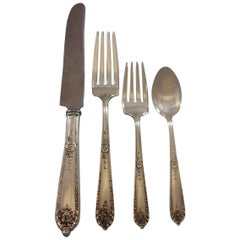 Della Robbia by Alvin Sterling Silver Flatware Set 12 Service 72 Pcs Dinner