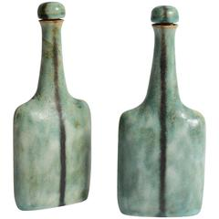 Pair of Coppia Bottles by Bruno Gambone