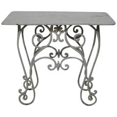 French 19th Century Painted Iron Garden or Conservatory Table