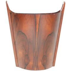 Rosewood Wastepaper Basket by Einar Barnes for P. S. Heggen