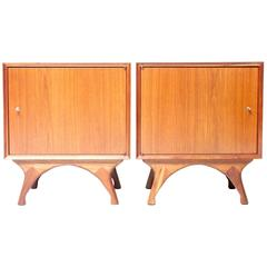 Walnut Mid-Century Nightstands