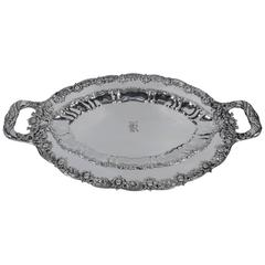 Tiffany Chrysanthemum Sterling Silver Serving Platter