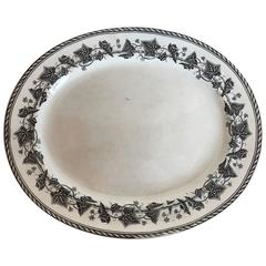 19th Century French H & B Ivy Transferware Plate