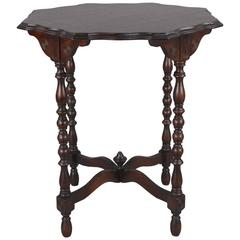 1920s Spanish Revival Side Table with Scalloped Top