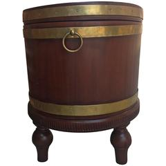 English 19th Century Mahogany Wine Cooler