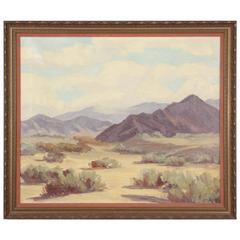 Early 1900s Desert Landscape by Pasadena Artist Gertrude Remy