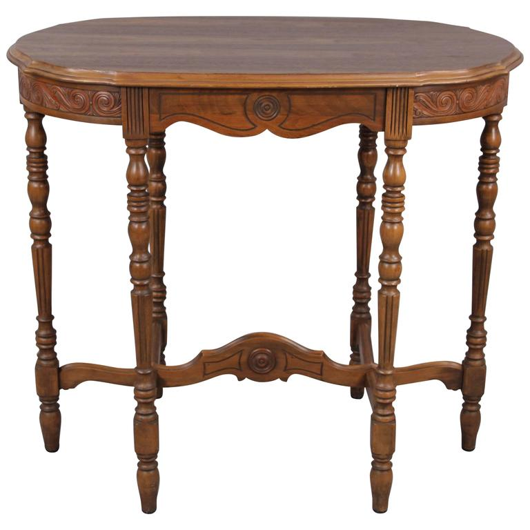 1920s Carved Side Table