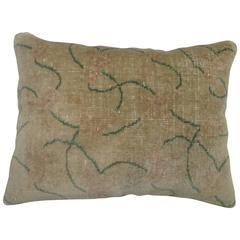 Modernist Turkish Rug Large Pillow