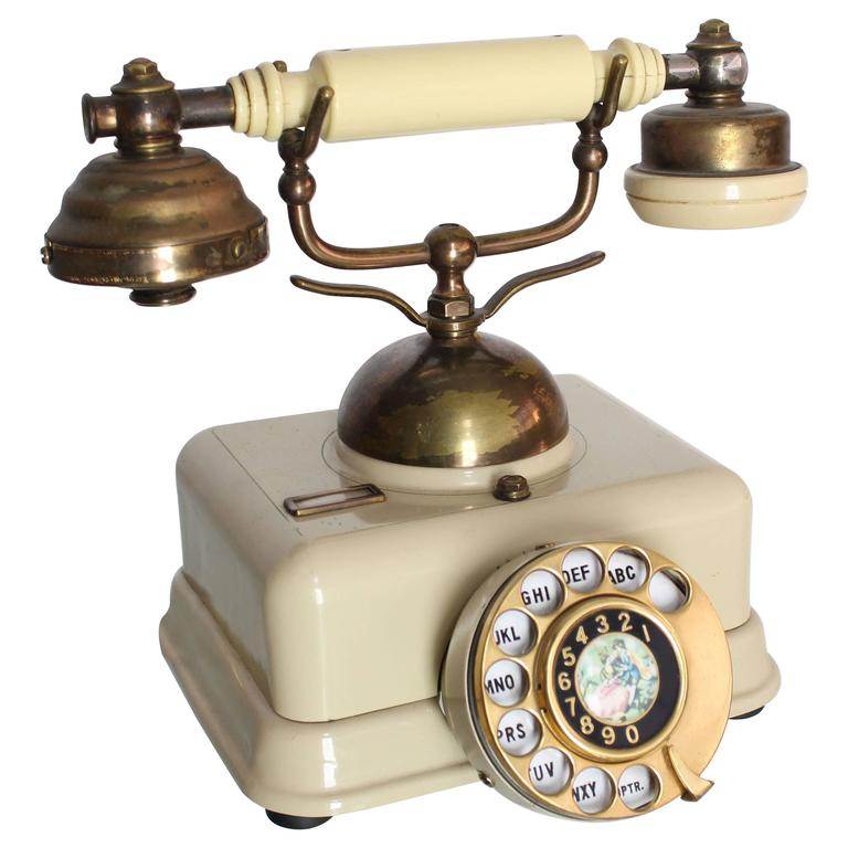 Antique French Rotary Telephone For Sale at 1stdibs