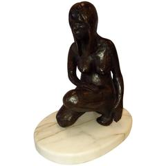 Michael Naranjo Bronze, Nude Woman, Signed and Dated 1970