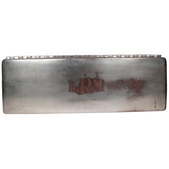 Dodge Inc. Silver Plate Jewelry Box with Bakelite Inner Tray, circa 1950