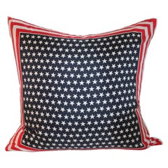 Monumental Patriotic Silk Escada Scarf Pillow