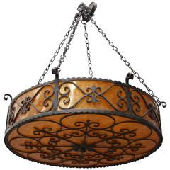 Large Custom Wrought Iron Drum
