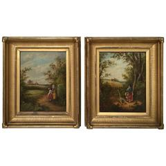 Pair of 19th Century, French Paintings