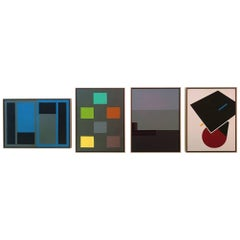 Group of Four Oil Paintings by Fred Rubik