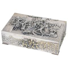 Continental Silver Plate Covered Rectangular Box