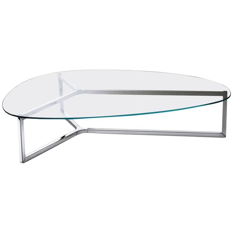 Raj 3 Coffee Table In Glass And Polished Stainless Steel By Gallotti U0026  Radice