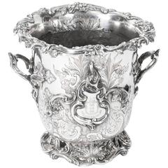 Antique Old Sheffield Embossed Wine Cooler, circa 1830