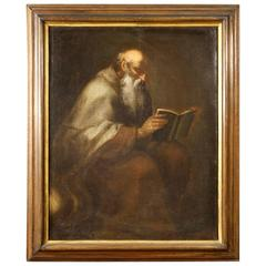 18th Century Italian Religious Painting Saint Jerome