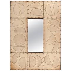 Mid-Century Brass Mirror by Blazy