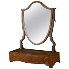 19th Century Mahogany Dressing Table Mirror