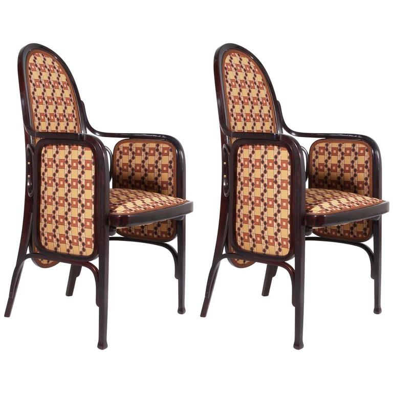 Two Bentwood Armchairs by Thonet, Vienna, 1900