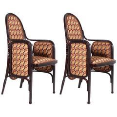 Zwei Bentwood Sessel von Thonet, Wien, 1900