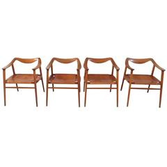 Rare Set of Relling and Rastad Bambi Armchairs by Gustav Bahus, Norway, 1954