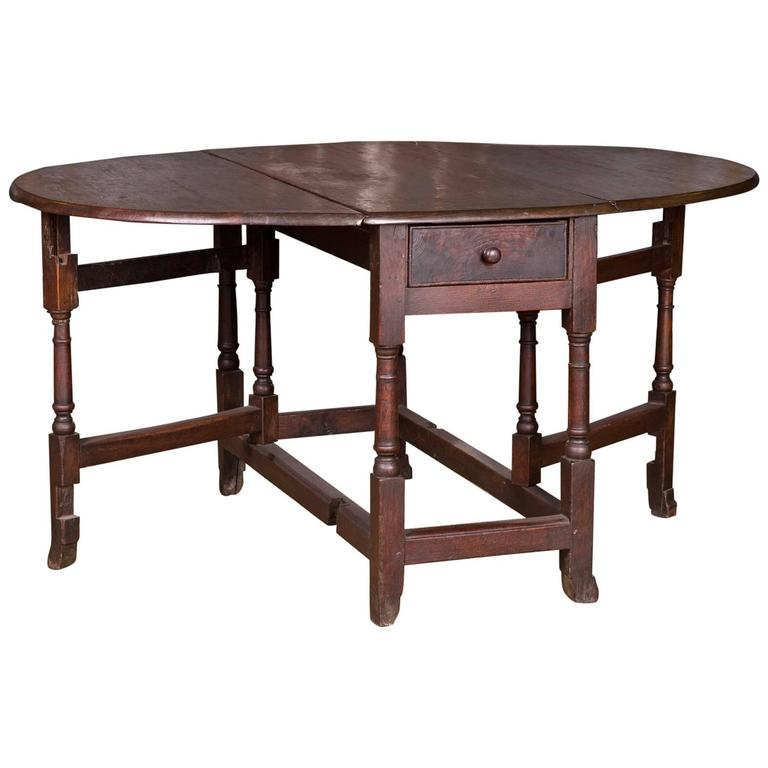 17th-18th Century, Original English Pembroke Folding Table Antique For Sale - 17th-18th Century, Original English Pembroke Folding Table Antique