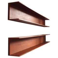 Pair of Teak Shelves by Walter Wirz for Wilhelm Renz, Germany, 1964