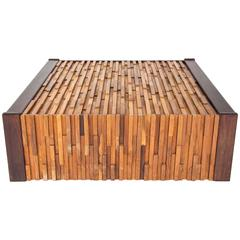 Percifal Lafer Mixed Tropical Wood Coffee Table, Brutalist Style for Lafer MP