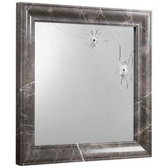 Mirror Wall Square Grey Marble Italian Limited Edition Design, Barberini Gunnell