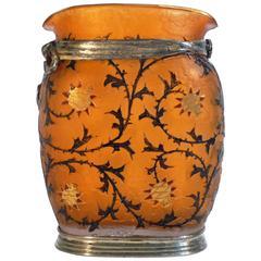 """Daum Nancy, an Art Nouveau Vase, """"Chardons De Lorraine"""", Signed, 1893"""