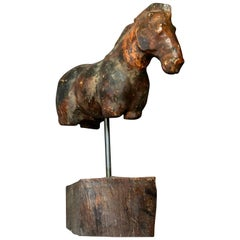Italian Carved Horse Sculpture
