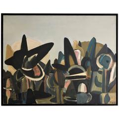 Exceptional Painting by Maryan S. Maryan, Oil on Canvas, 1956