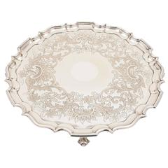 Large 19th Century Sheffield Plated Salver