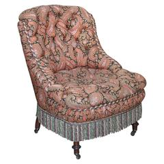 Pretty Paisley Slipper Chair